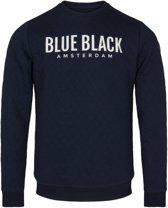 Blue Black Amsterdam - Jongens Trui Mathijs - Donkerblauw - maat 140