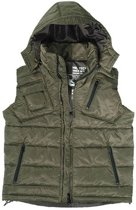 Hooded Bodywarmer Olive olive