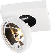QAZQA Ga - Plafond spot - 1 lichts - L 155 mm - Wit
