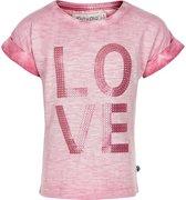 Minymo - meisjes t-shirt - roze - Maat 98