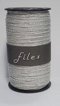 Krullint Filex Zilver Glitter 1mm x 100 meter (1 rol)