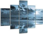 Glas schilderij Zee   Blauw   100x70cm 5Luik   Foto print op Glas    F006449