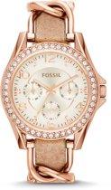 Fossil Rosékleurig Vrouwen Horloge ES3466