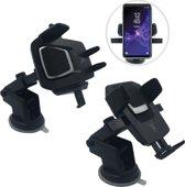 Universele Telefoon Auto Houder voor Dashboard en Voorruit met One-Hand Fixation Technologie - Geschikt voor Samsung Galaxy / Apple iPhone / Huawei