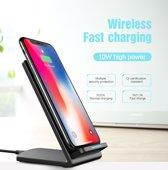 Fast wireless charging stand - draadloze oplader - zwart