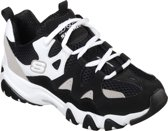Skechers D'Lites 2- Top Down Sneakers Dames - Black White - Maat  37