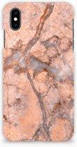 Apple iPhone Xs Max Hardcase Hoesje Design Marmer Oranje