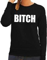 Bitch tekst sweater / trui zwart voor dames L