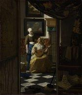 Johannes Vermeer - De liefdesbrief - 100x115cm Textielframe
