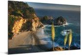 Kustlijn Big Sur in Amerika Aluminium 180x120 cm - Foto print op Aluminium (metaal wanddecoratie) XXL / Groot formaat!