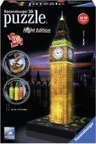Ravensburger Big Ben Night Edition- 3D puzzel gebouw - 216 stukjes