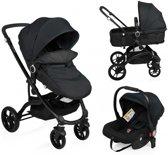 Little World Kinderwagen City Walker  3 in 1 – Zwart – Inclusief autostoel – Tot 22kg!