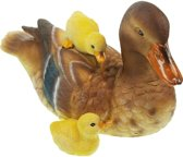 Plastic wilde eend 23 cm vijver decoratie - Vijvers artikelen - Kunststof decoratie dieren