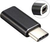 Aluminum Micro USB to USB 3.1 Type-c Converter Adapter voor Nokia N1, MacBook 12 inch, Xiaomi Mi 4C, Letv(zwart)