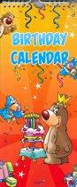 Verjaardagskalender Feest - Geen jaartal - Ophangbaar - Diverse Kleuren  - 14,5 x 34,5 x 0,6 cm