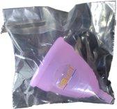 Siliconen menstruatie cup – Roze of Paars – Maat S