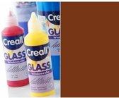 Creall Glass - glasstickerverf donkerbruin 1 Fles - 80 Mililiter 20558