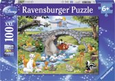 Ravensburger Disney Familie Animal Friends - Puzzel van 100 stukjes