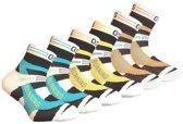 6 paar Kids - Quarter sneakersokken - coolmax - multi-colour - 35-38