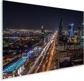 Uitzicht over Riyad Plexiglas 90x60 cm - Foto print op Glas (Plexiglas wanddecoratie)
