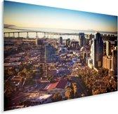 Uitzicht op het centrum van San Diego in de Verenigde Staten Plexiglas 90x60 cm - Foto print op Glas (Plexiglas wanddecoratie)
