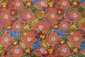 Atelier Du Baj Ananas Orange Mexicaans Tafelzeil - 250 x 120 cm