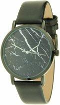 """Ernest horloge """"Black-Marble"""" zwart-zwart"""