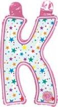 opblaasbare letter K multi color