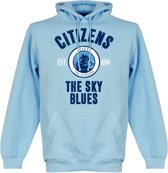 Manchester City Established Hooded Sweater - Wit - S