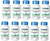L-Tryptophan, 500 Mg, 90 Vegetarian Capsules, 10-pack