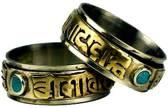 Spinning Ring Om Mani Pad Me Hum Maat 8