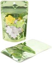 Stazakken Transparant/Groen 7,9x5,1x13cm | 28 gram (100 stuks)