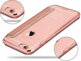 iPhone SE / 5 / 5S Folio Flip PU Leather Hoesje Met Hard Transparant Back Cover Rose Goud