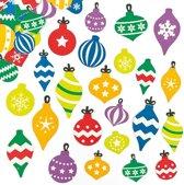 Foam stickers van kerstballen - creatieve knutselpakket voor kinderen om te versieren scrapbooking wenskaarten en kerst knutselwerkjes (120 stuks)