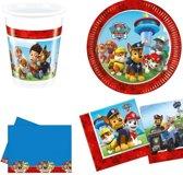 Paw Patrol kinderfeestje versiering tafel pakket 8 personen - Paw Patrol tafelversiering + gratis happy birthday kaart