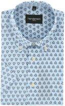 Gcm Henderson regular fit overhemd korte mouw blauw, maat XXL