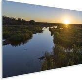 Zonsondergang over rivier in het nationale park Kruger in Zuid-Afrika Plexiglas 90x60 cm - Foto print op Glas (Plexiglas wanddecoratie)