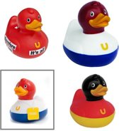 3x Badeend - rubber - 9cm - BUD Duck | Dutch - German - Thinking