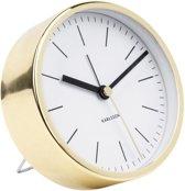 Alarm clock Minimal white, shiny gold case