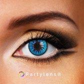 Partylenzen - Blue Sky - jaarlenzen incl. lenzendoosje - kleurlenzen Partylens®