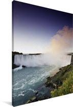 Kleurrijke omgeving van de Niagarawatervallen Canvas 60x90 cm - Foto print op Canvas schilderij (Wanddecoratie woonkamer / slaapkamer)