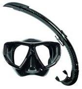 Aqua Lung Sports Oyster + Airflex LX Snorkelset - - Black -