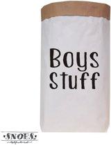 Paperbag XXL Boys Stuff Hippe opberger van Snoeslifestyle