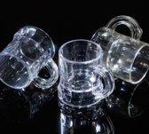 Plastic Shotglaasjes - 2,5 cl - 50 stuks - transparant