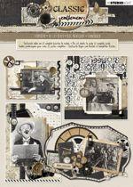 Classic Gentlemen - 3D Stansblok - Om 12 kaarten te maken