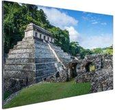Piramide van Palenque Mexico  Aluminium 60x40 cm - Foto print op Aluminium (metaal wanddecoratie)