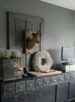 Home & Deco Vlaskrans - Ø 40 cm - wit