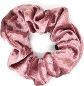 Scrunchie Velvet Elastiek - Roze - Haarproduct - Scrunchie - Elastiek