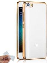 Teleplus Xiaomi Mi5 Laser Cut Silicone Case Gold hoesje