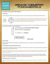 Organic Chemistry Fundamentals (Speedy Study Guides)